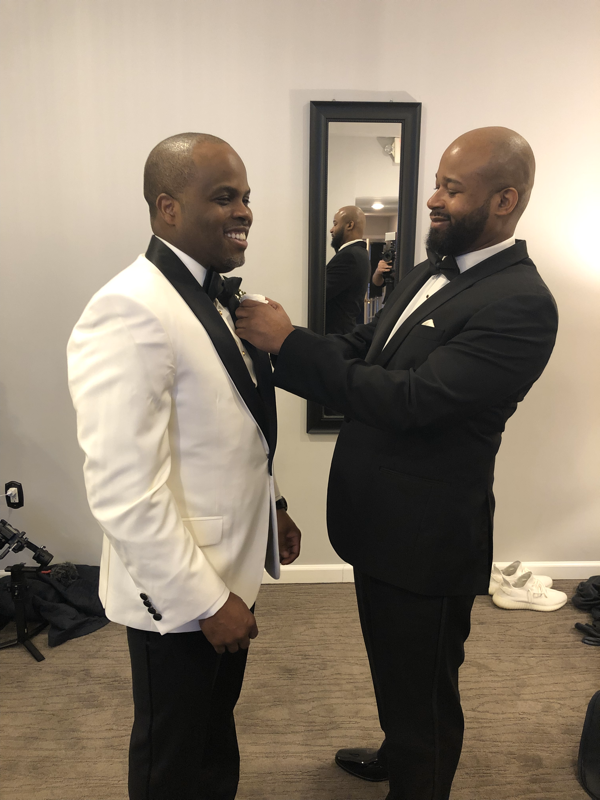 black groom and bestman